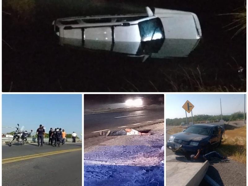 Incrementan accidentes automovilísticos durante fin de semana en el Istmo