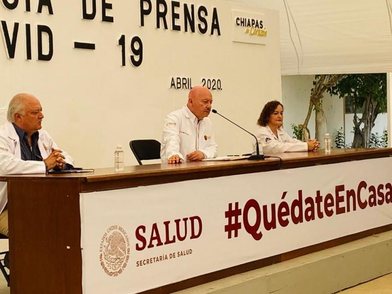 Incrementan casos de COVID-19 en Chiapas van 124