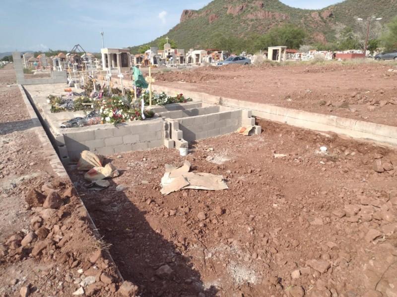 Incrementan sepulturas, se reduce tiempo de vida de panteón municipal