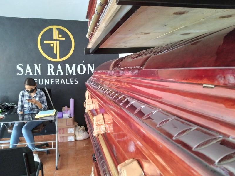 Incrementan servicios funerarios por muertes Covid-19 en Zamora