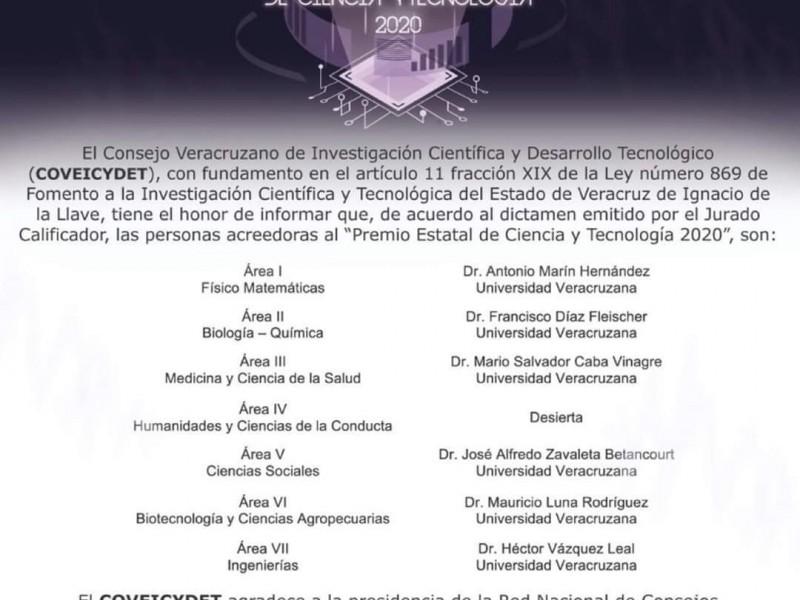 Indignación entre académicas por Premio Estatal de Ciencia y Tecnología