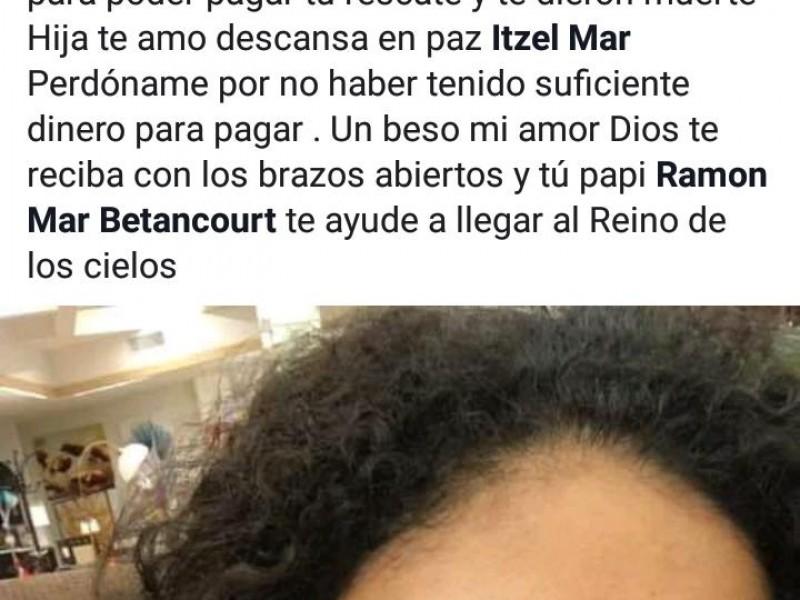 Indignación tras asesinato de joven secuestrada en Naranjos