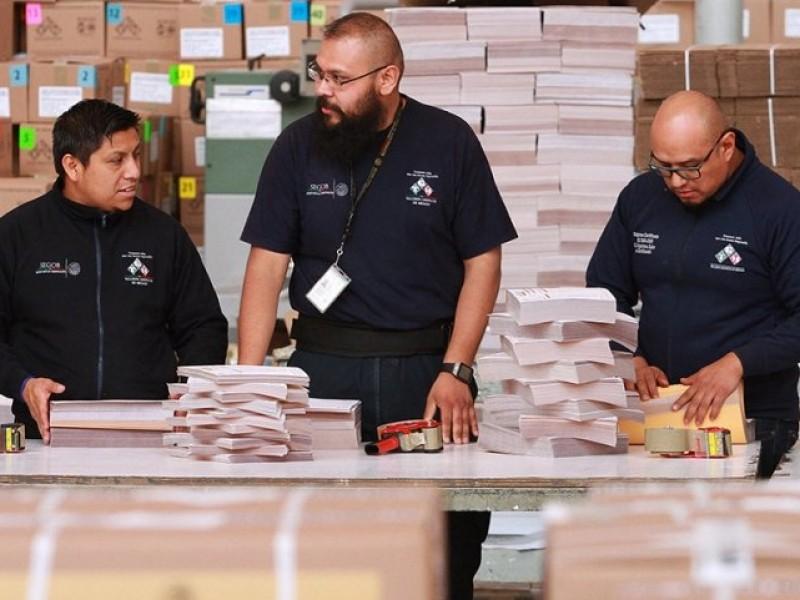 INE comienza reparto nacional de boletas electorales