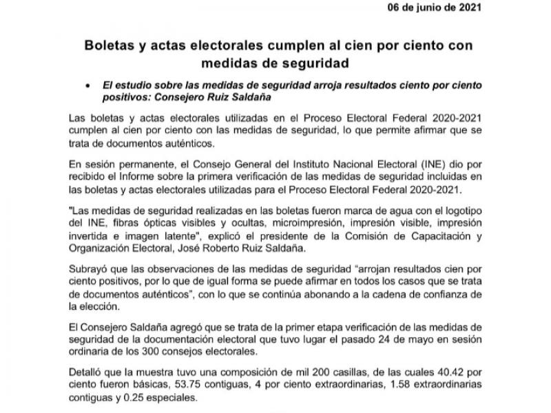 INE desmiente boletas marcadas a favor de Morena en Michoacán