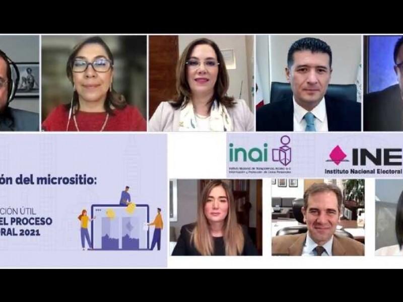 INE e Inai lanzan micrositio de información por elecciones 2021