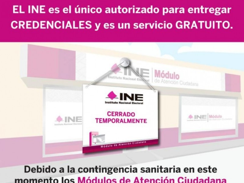 INE exhorta a no caer en tramites falsos de credenciales
