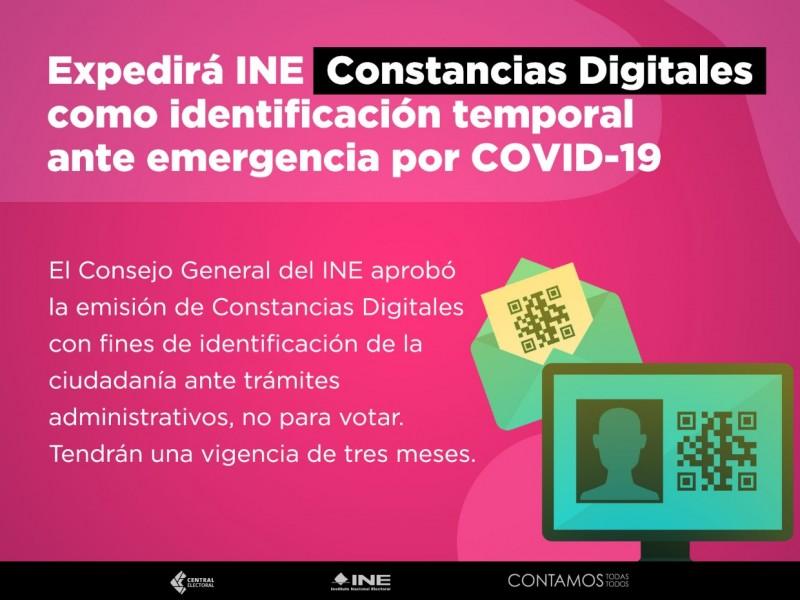 INE inicia recepción de constancias digitales