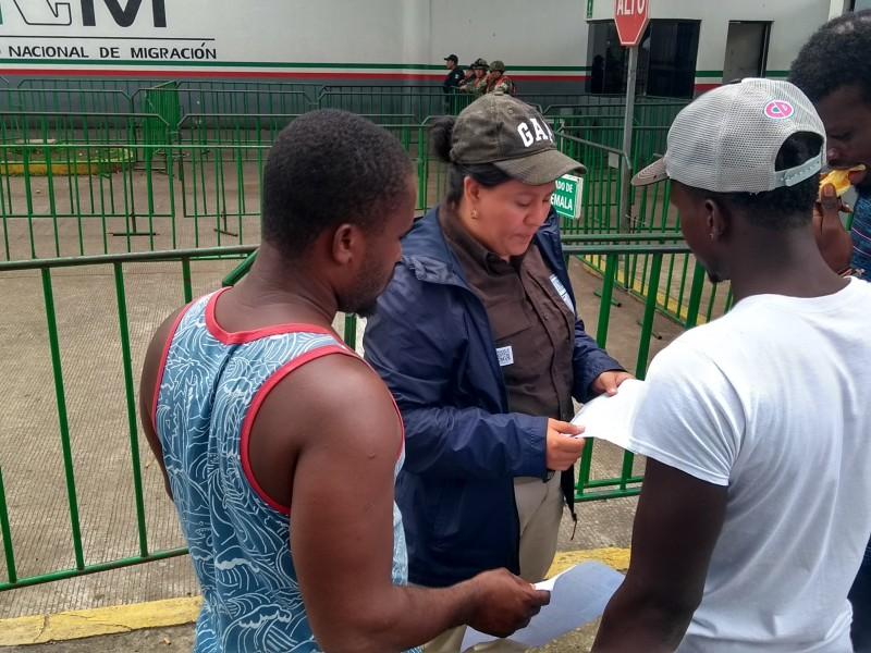 Ineficiente atención en INM en Tapachula.