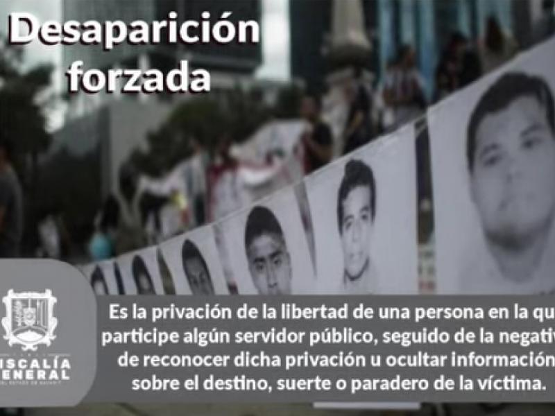 Informa Fiscalía cifras sobre desaparecidos