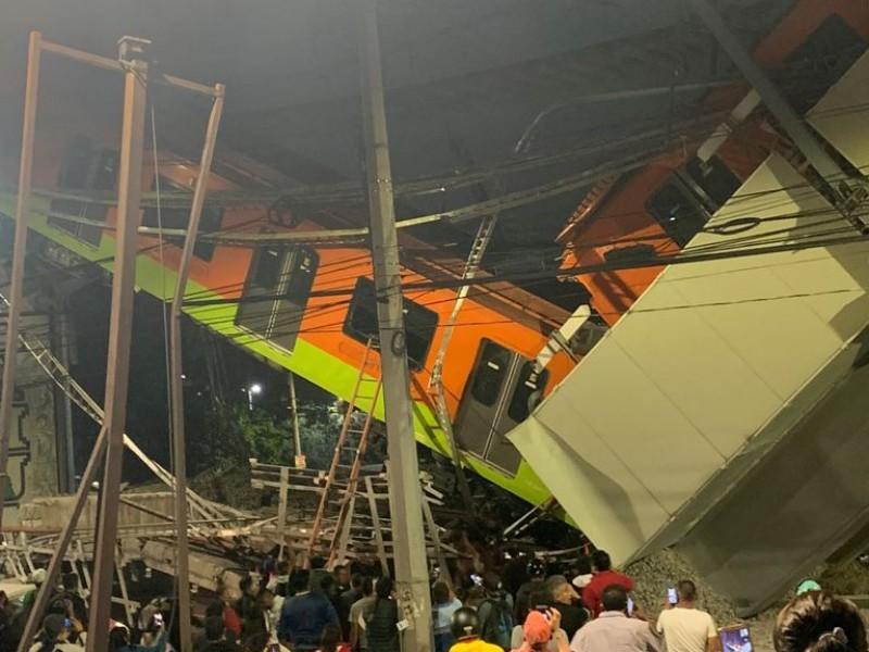 Accidente en Metro de la Ciudad de México