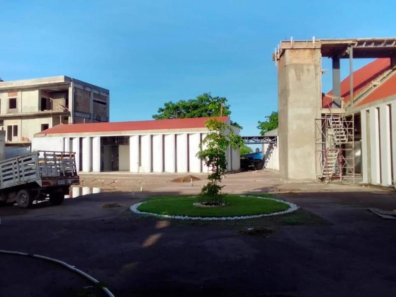 Ingeniería moderna salva de la inundaciónal Centro Comunitario Tuxpan