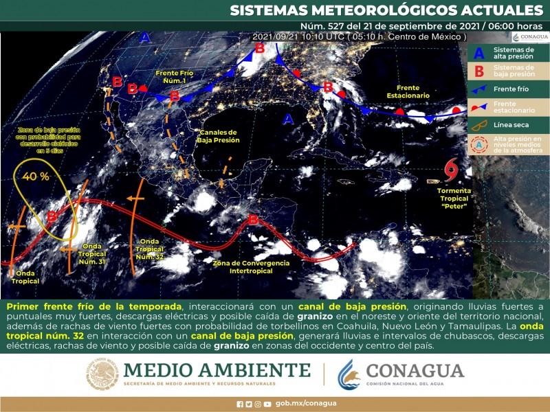 Ingresar primer frente frío al norte de México