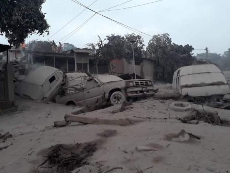 Inhabitable zona cero de erupción volcánica en Guatemala