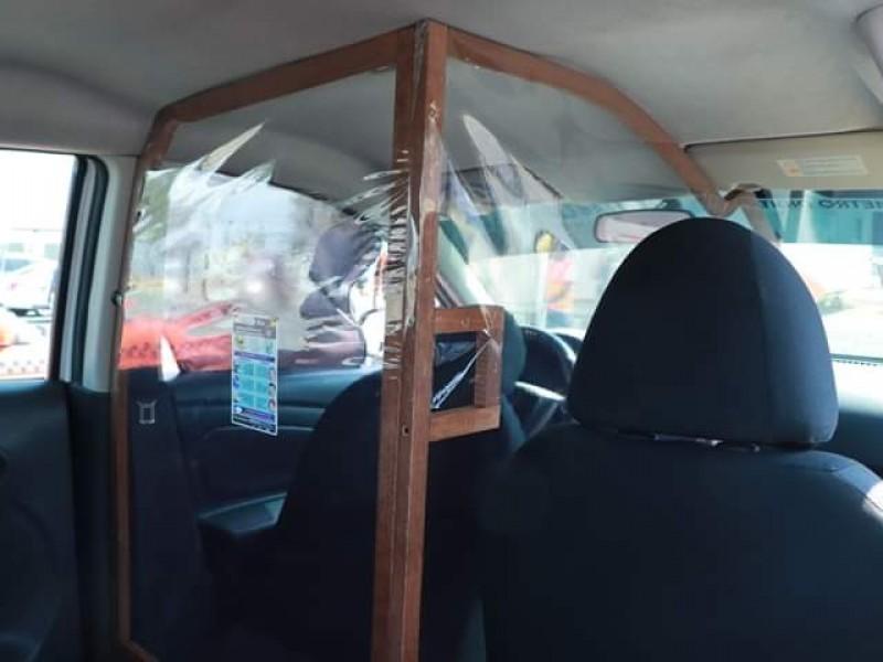 Inicia 2° etapa de mamparas en taxis del IQT