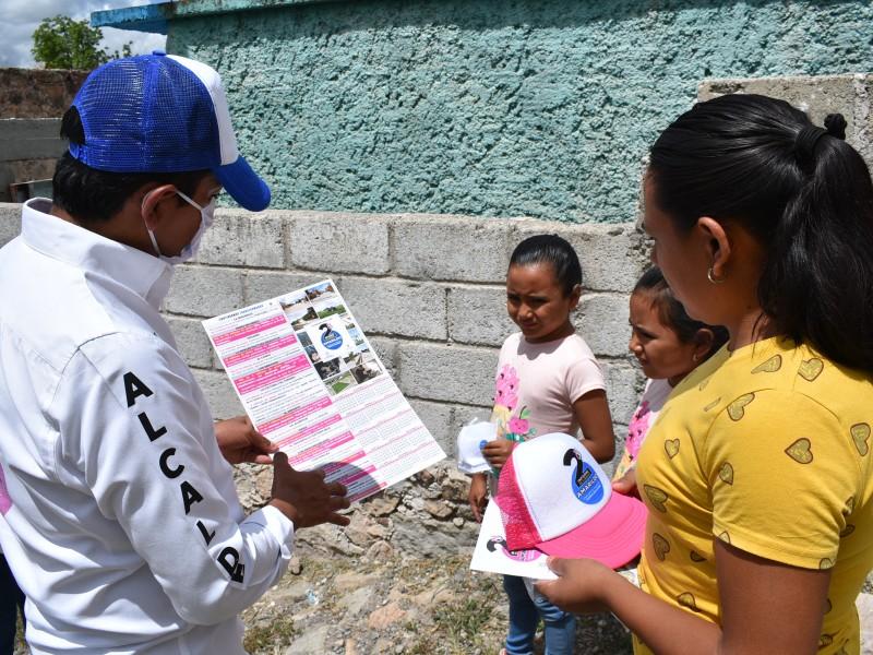 Inicia Amarildo Bàrcenas entrega de 2o. Informe de Gobierno