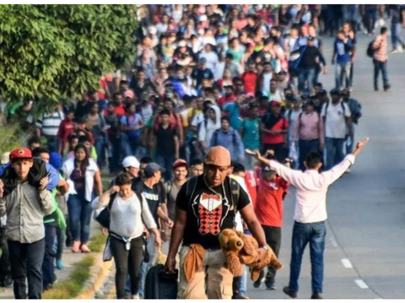 Inicia caravana migrante