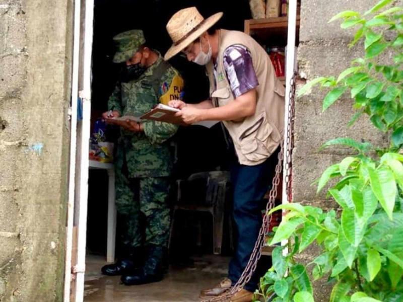 Inicia censo en Tabasco, recorren y cuentan viviendas damnificadas