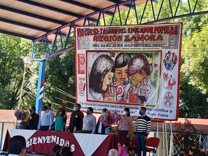 Inicia educador popular en Zamora, preparan el regreso a clases