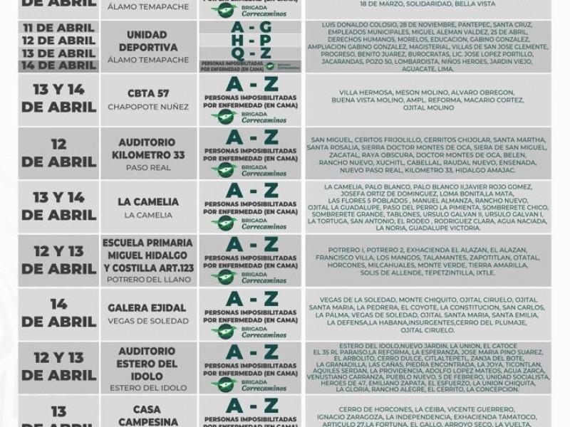 Inicia en Álamo Jornada de Vacunación Contra el Covid19