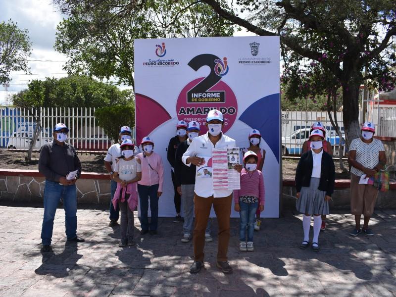 Inicia entrega de informe de actividades alcalde de Pedro Escobedo