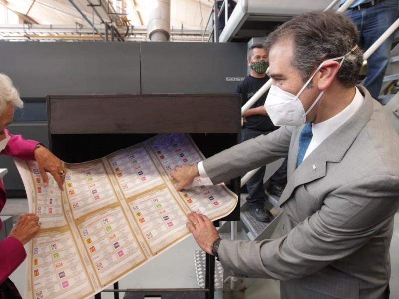 Inicia INE producción de boletas para elecciones