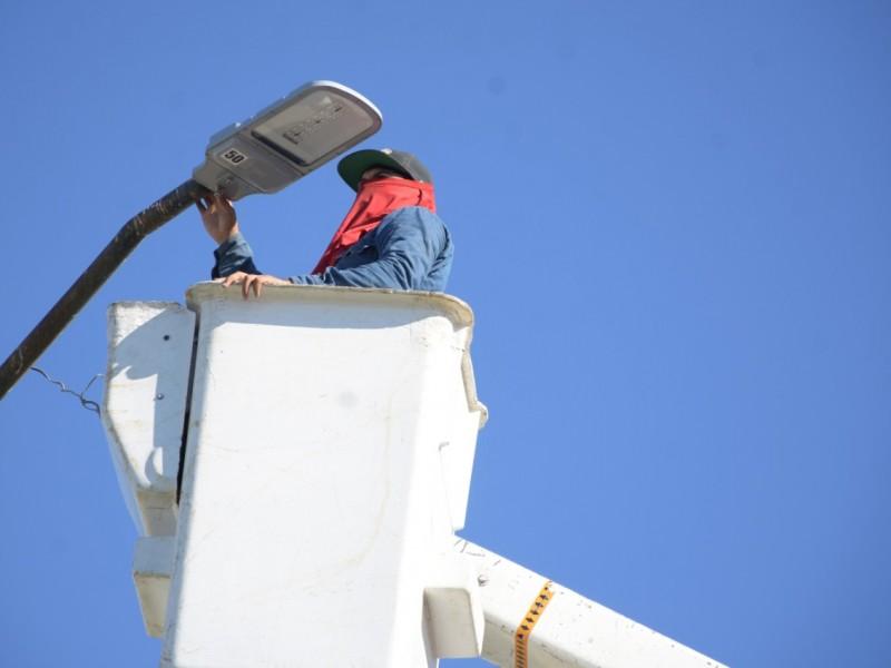 Inicia la instalación de lámparas LED en las Sindicaturas