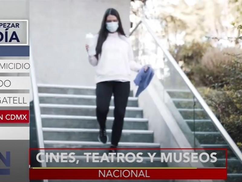 Inicia la reapertura de cines, teatros y museos en Cdmx