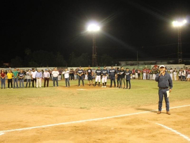 Inicia Liga Puro Empalme, se activa el béisbol