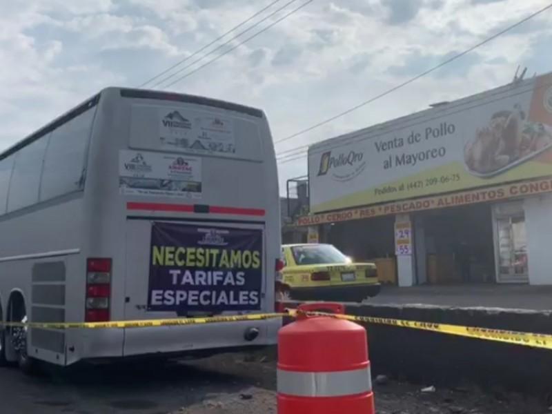 Inicia manifestación de transportistas en Querétaro
