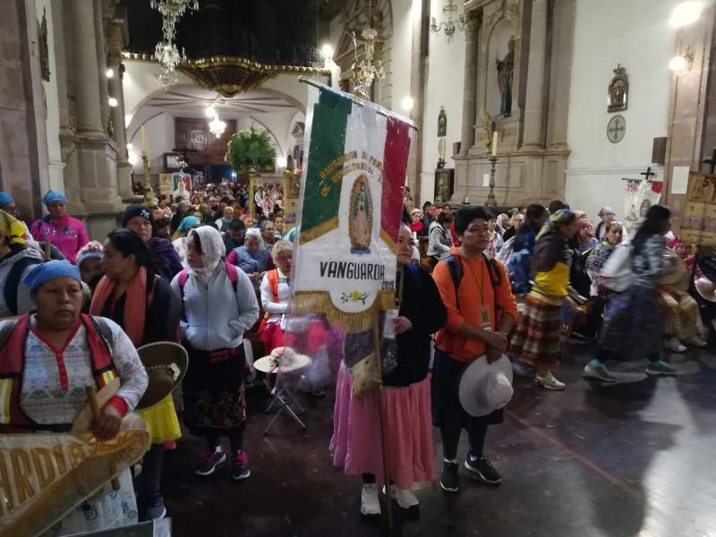 Inicia peregrinación a basílica de Guadalupe