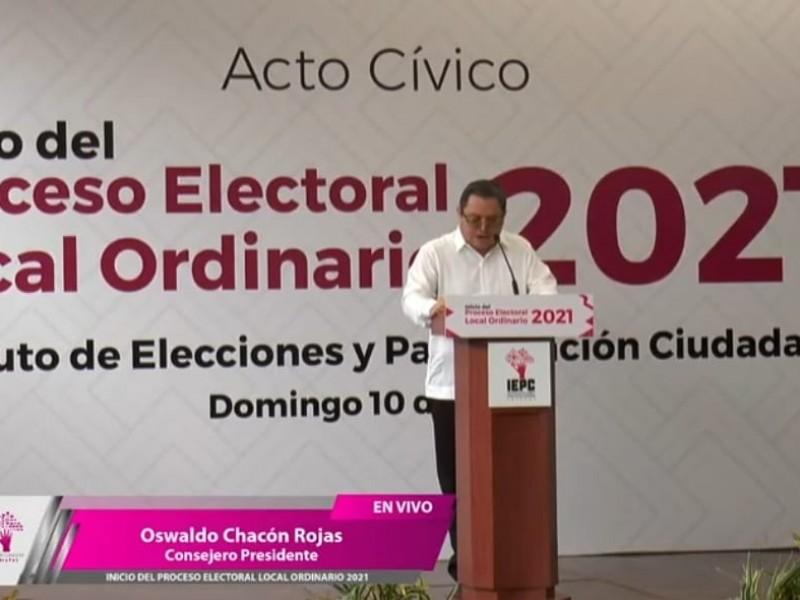 Inicia proceso electoral Local Ordinario en Chiapas