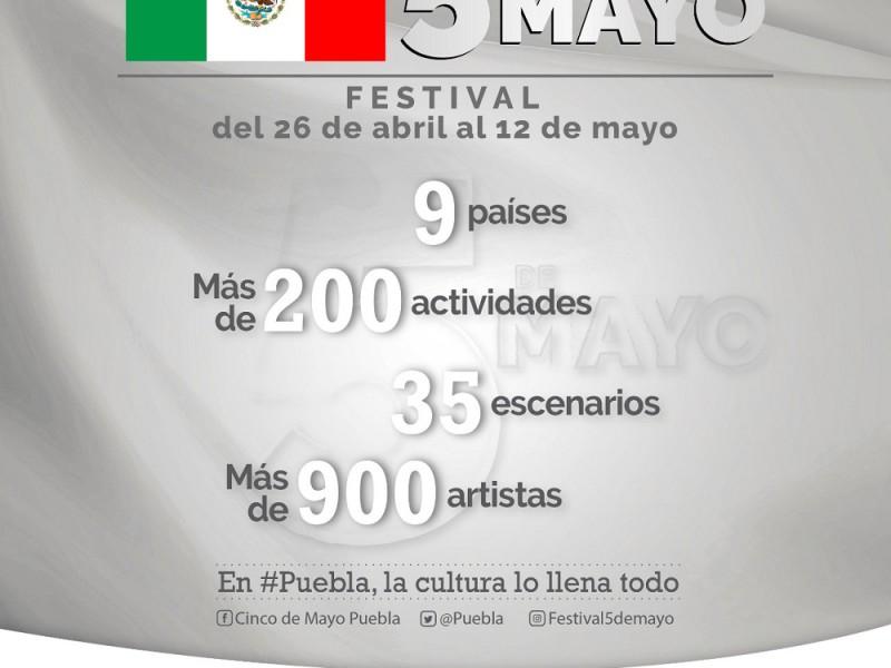 Inicia próximo viernes Festival 5 de Mayo