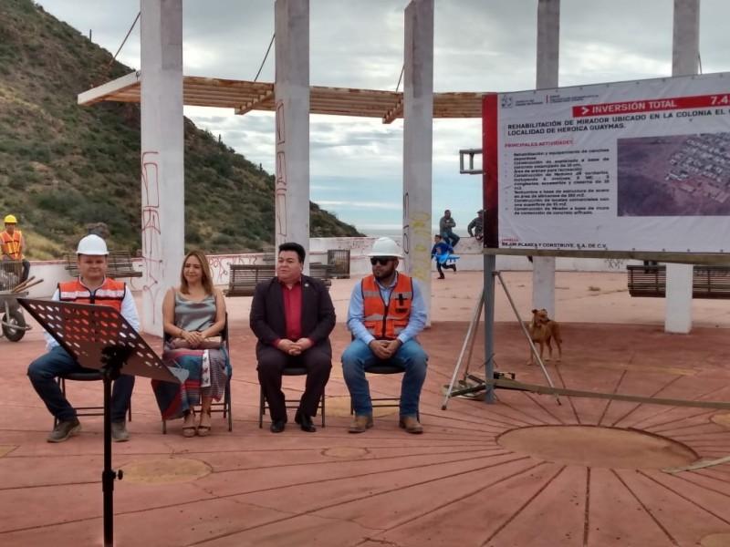 Inicia rehabilitaciòn de Mirador Escénico en Centinela