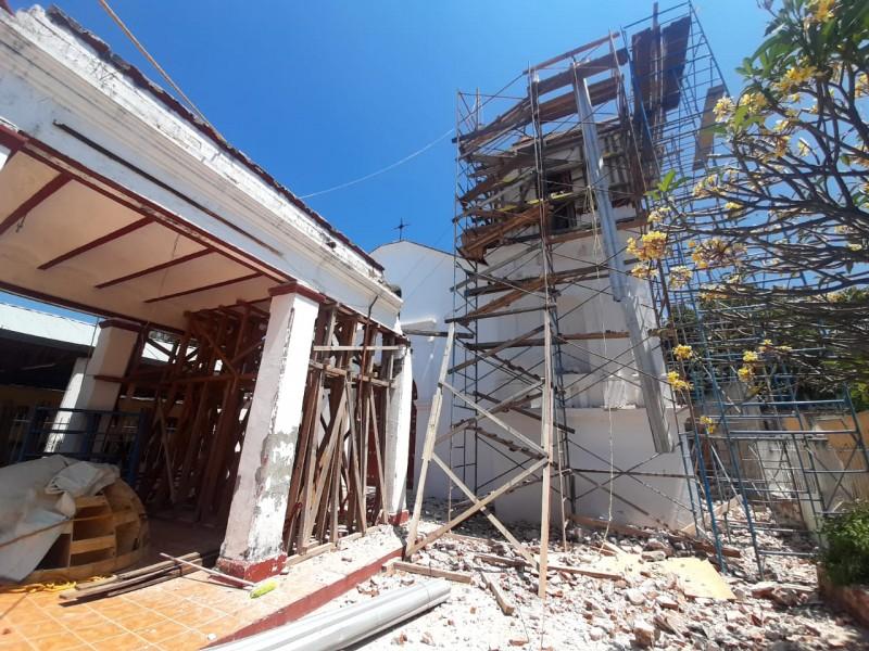 Inicia segunda etapa de restauración; Templo de San Jerónimo Doctor