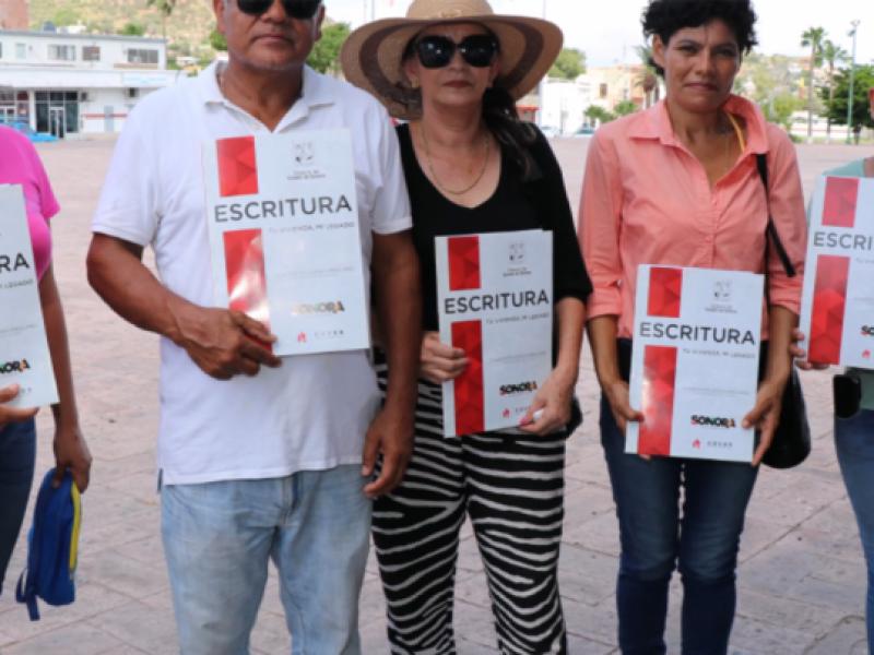 Inicia segunda jornada de escrituración en Guaymas