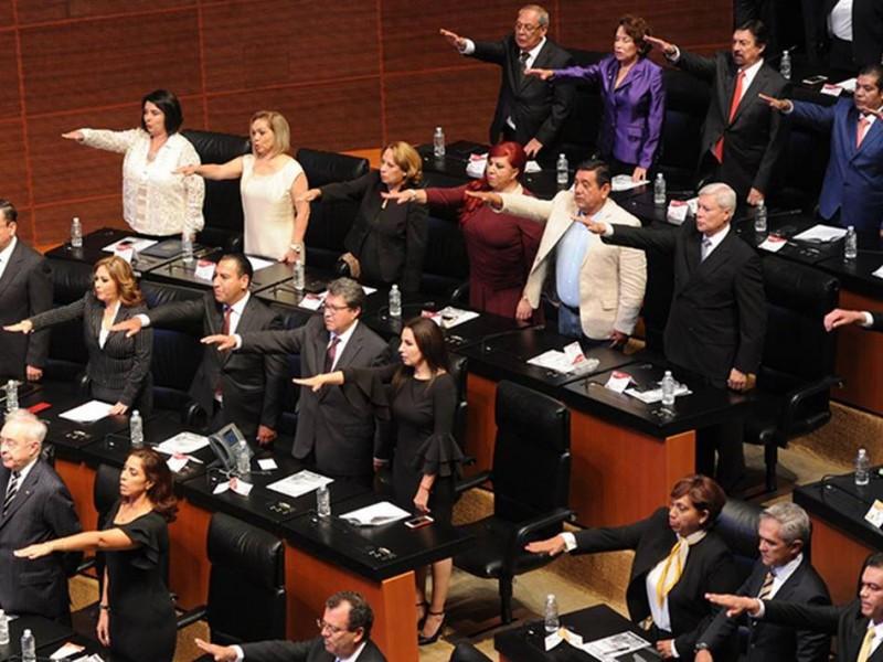Inicia sesión Constitutiva del Senado con 127 senadores