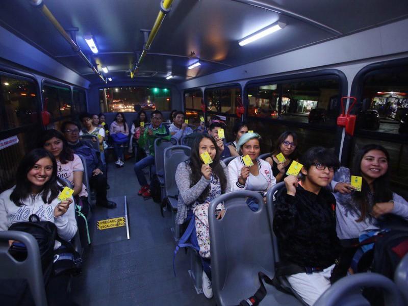 Inicia transporte gratuito para Universitarios