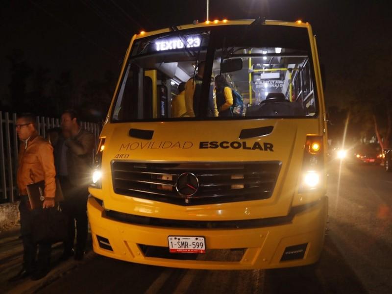 Inicia transporte nocturno gratuito para Universitarios