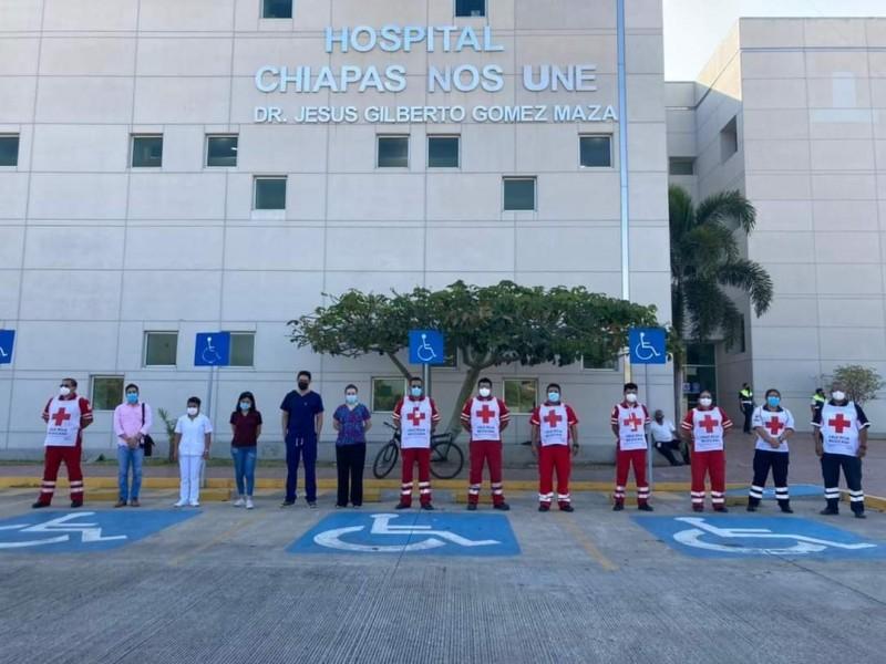 Inicia vacunación a personal de Cruz Roja