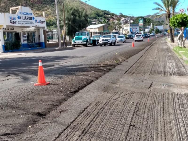 Inician acciones de bacheo en Guaymas