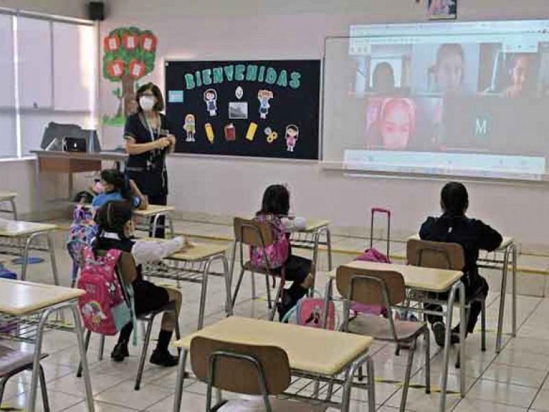 Inician clases hibridas en Primaria Loreto Encinas de Avilés