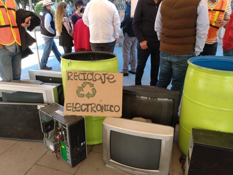 Inician en Sahuayo campaña de reciclaje de equipos electrónicos