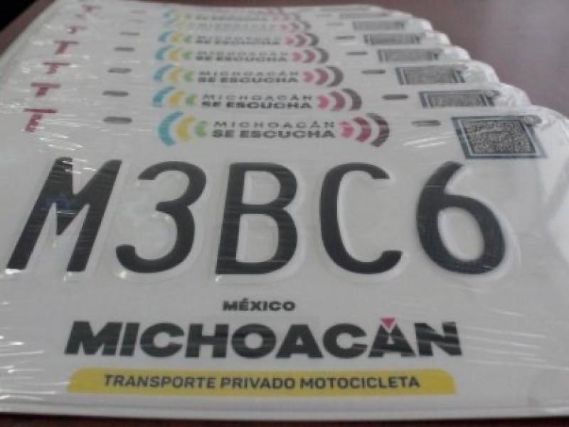 Inician entrega de placas para motocicletas en Zamora