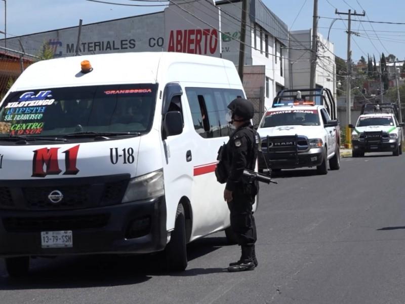 Inician los operativos en transporte público para evitar asaltos