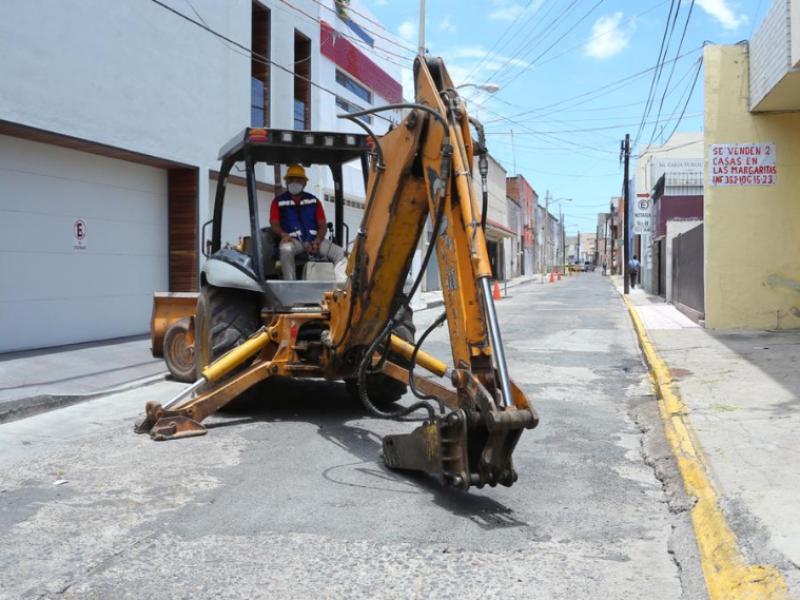 Inician reconstrucción de calles en primer cuadro