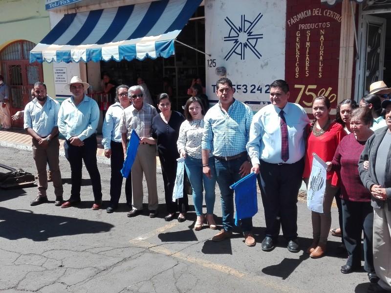 Inician trabajos de mejora en centro de Tangancícuaro