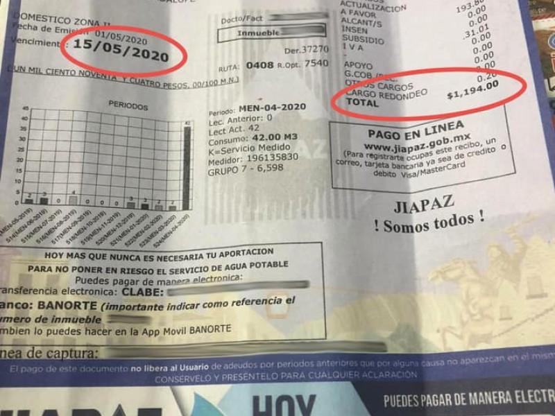 Insiste alcalde en descuentos a recibos de Jiapaz