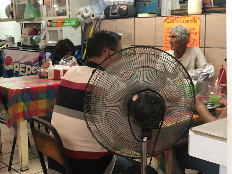 Insoportable el calor en BCS