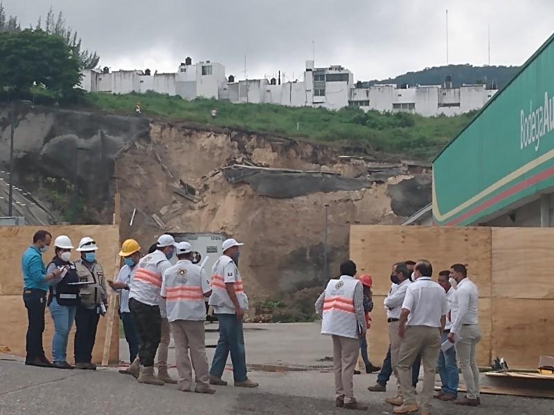 Inspeccionan arrastre de material pétreo derivado de lluvias