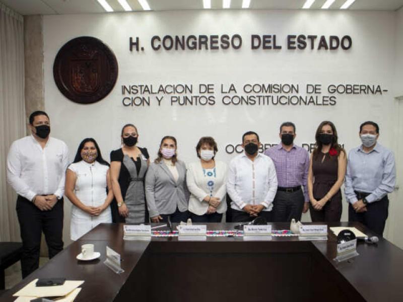 Instala Congreso de Chiapas comisión de gobernación